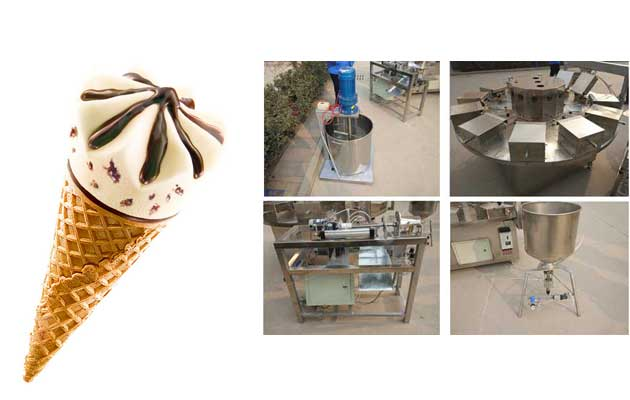 Commercial Crispy Cone Making Machine For Sale